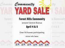 42 Report Community Garage Sale Flyer Template With Stunning Design for Community Garage Sale Flyer Template