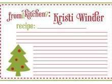 Template For Christmas Recipe Card
