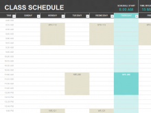 Student Schedule Template Free