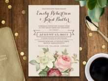 Wedding Card Template Vintage
