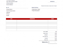 Invoice Hourly Rate Template