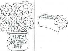 Mothers Day Cards Print And Color
