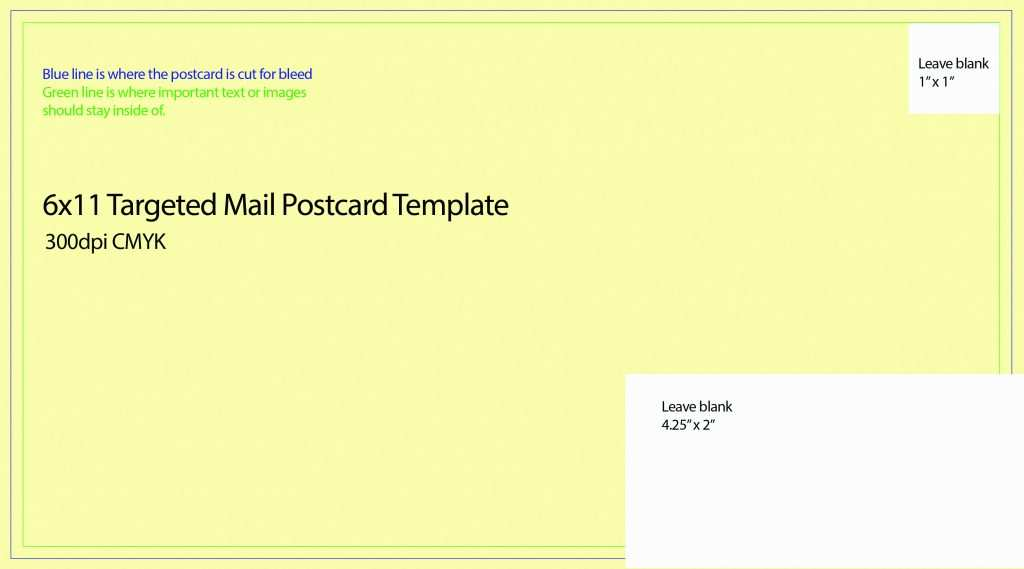 43 Create 6 X 11 Postcard Template PSD File with 6 X 11 Postcard Template