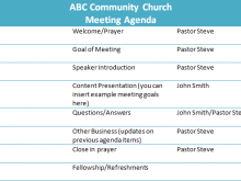43 Create Church Meeting Agenda Template Layouts by Church Meeting Agenda Template
