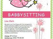 43 Creative Babysitting Flyer Free Template for Ms Word by Babysitting Flyer Free Template