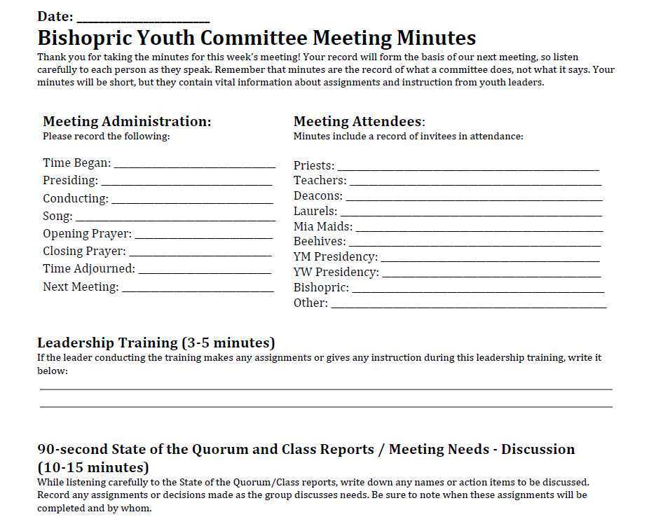 43 Creative Lds Meeting Agenda Template For Ms Word For Lds Meeting Agenda Template Cards Design Templates