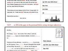 43 Customize Our Free Postcard Template Esl Formating by Postcard Template Esl