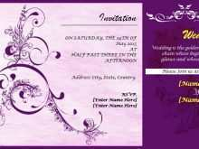 43 Format Invitation Card Template On Word Formating with Invitation Card Template On Word