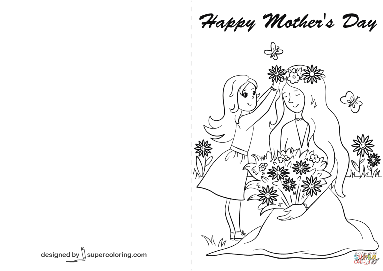 43 Free Mother S Day Card Templates To Color With Stunning Design with Mother S Day Card Templates To Color