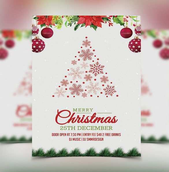 43 Printable Free Xmas Invitation Card Templates Maker for Free Xmas Invitation Card Templates