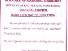 43 Printable Invitation Card Sample For Teachers Day for Ms Word for Invitation Card Sample For Teachers Day