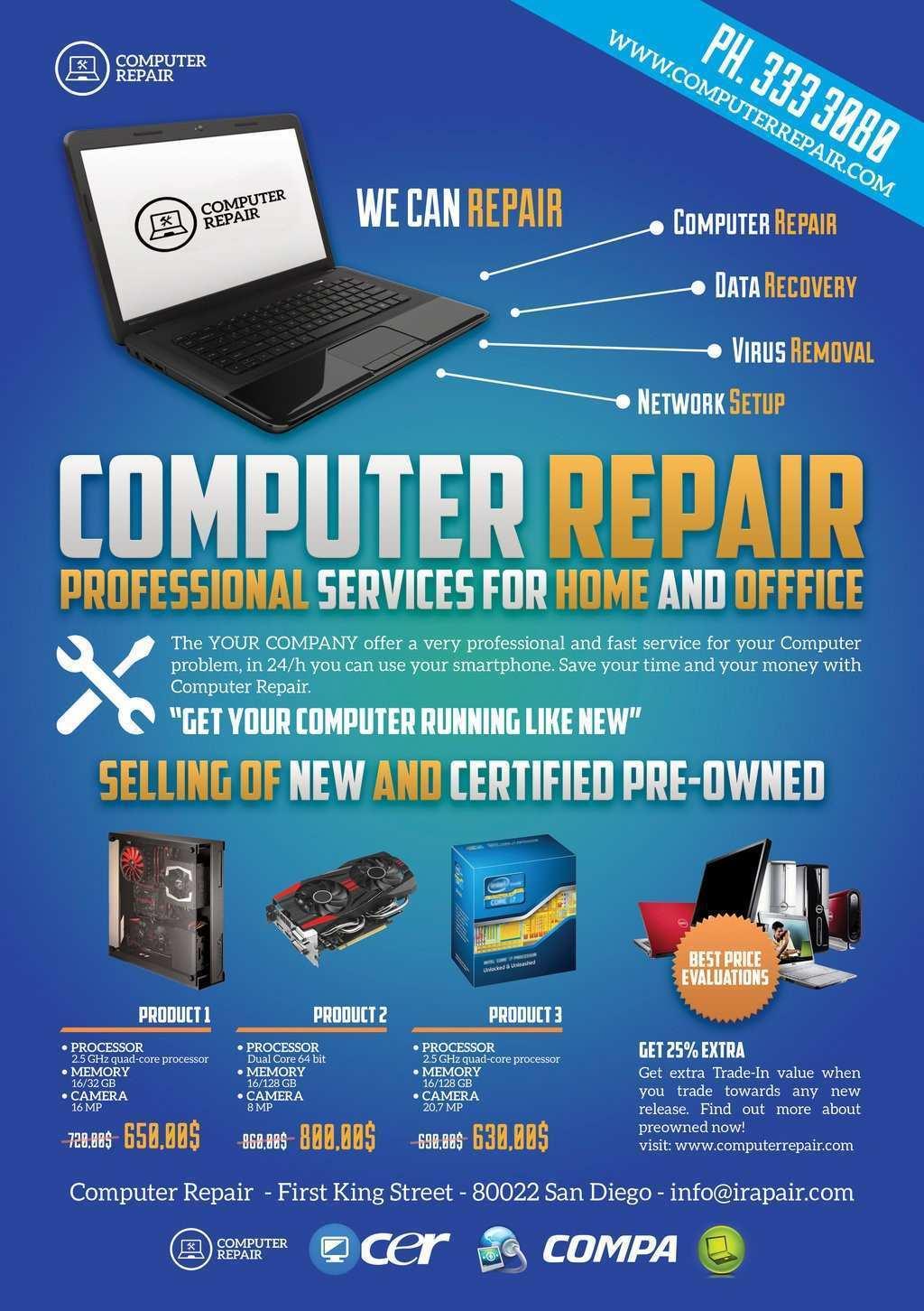 43 Report Computer Repair Flyer Template Word Templates by Computer Repair Flyer Template Word