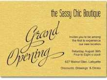 Invitation Card Sample Shop Opening