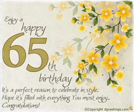 43 The Best 65Th Birthday Card Template in Word for 65Th Birthday Card Template