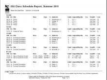 43 The Best Class Schedule Calendar Template for Class Schedule Calendar Template