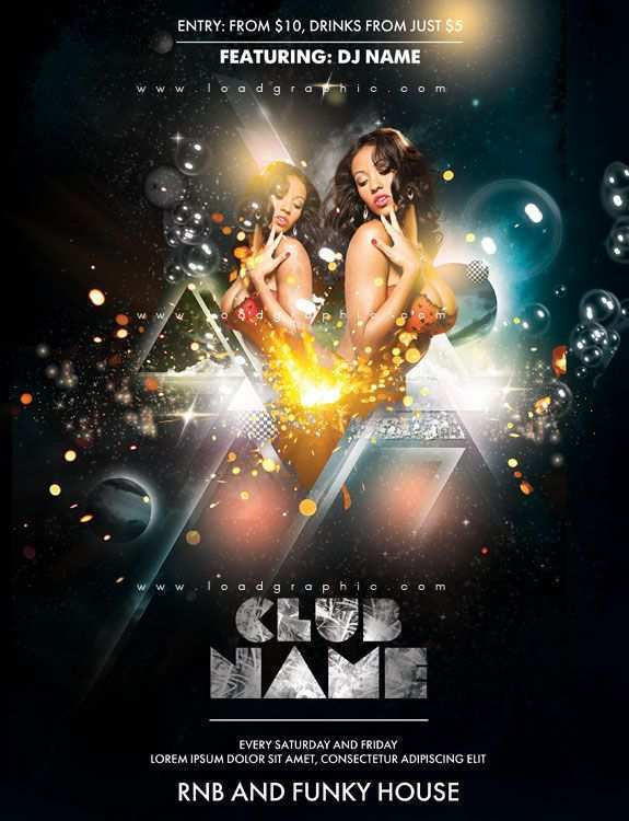 43 The Best Club Flyer Design Templates Free For Free for Club Flyer Design Templates Free