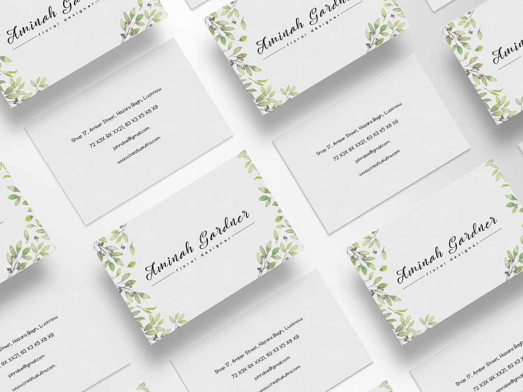 43 Visiting Floral Business Card Template Photoshop For Free with Floral Business Card Template Photoshop