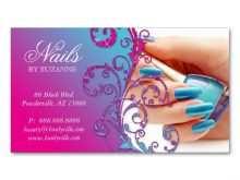 44 Adding Business Card Templates For Nail Salon Download with Business Card Templates For Nail Salon