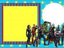 44 Blank Birthday Card Template Avengers PSD File with Birthday Card Template Avengers
