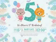 44 Creating 5Th Birthday Card Template With Stunning Design with 5Th Birthday Card Template