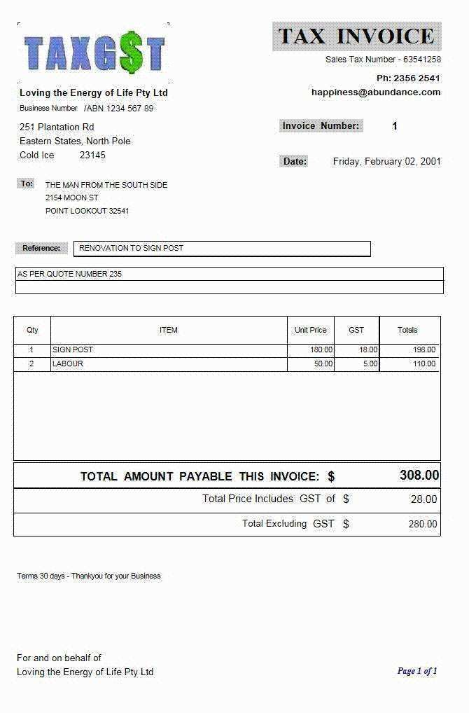 44 Creating Business Tax Invoice Template Templates By Business Tax Invoice Template Cards Design Templates