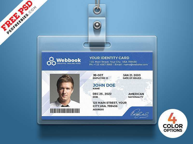 44 Creative 007 Id Card Template in Photoshop with 007 Id Card Template
