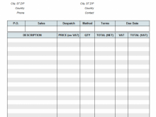 44 Creative Backdated Vat Invoice Template For Free for Backdated Vat Invoice Template