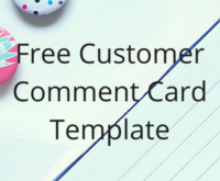 44 Creative Comment Card Template Restaurant Free in Word with Comment Card Template Restaurant Free
