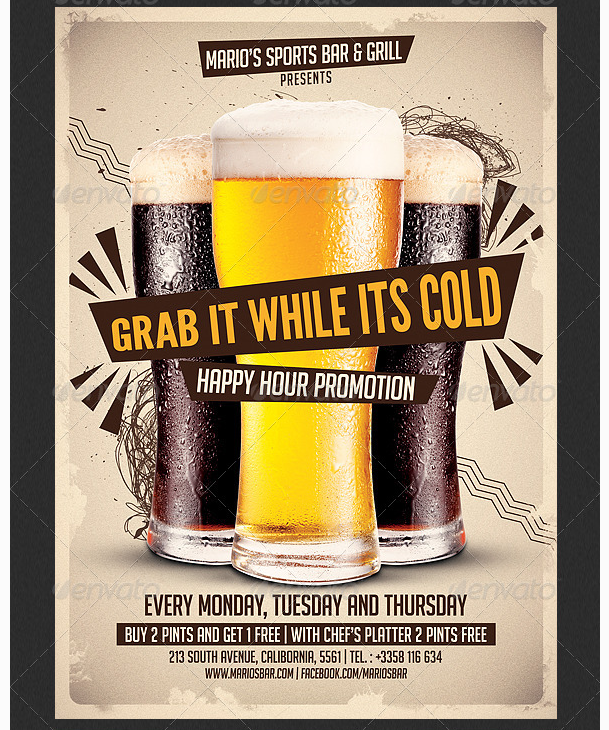 44 Creative Happy Hour Flyer Template Free Download for Happy Hour Flyer Template Free