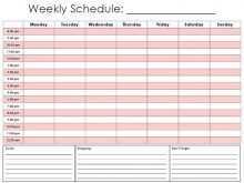 44 Creative Hourly Class Schedule Template in Word with Hourly Class Schedule Template