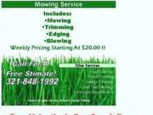 44 Customize Free Lawn Mowing Flyer Template With Stunning Design for Free Lawn Mowing Flyer Template