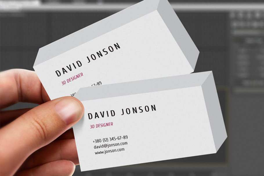 44 Customize Our Free 3D Business Card Design Template in Photoshop for 3D Business Card Design Template