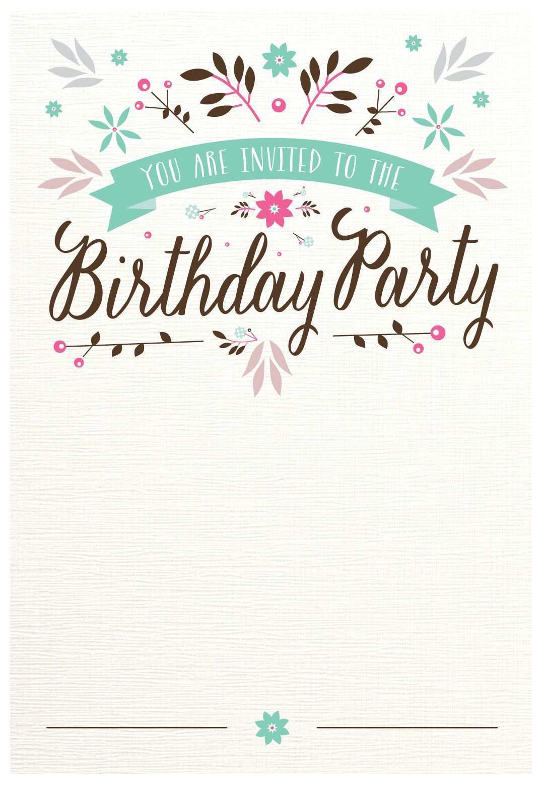 5 Format Birthday Invitation Card Template For Adults Formating