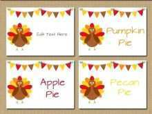 44 Format Thanksgiving Place Card Template For Word Maker with Thanksgiving Place Card Template For Word