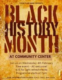 44 Free Black History Month Flyer Template PSD File by Black History Month Flyer Template