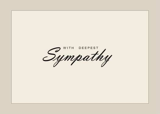This is a picture of Sympathy Card Printable within color