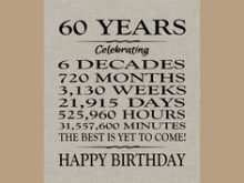 44 How To Create 60 Birthday Card Template PSD File for 60 Birthday Card Template