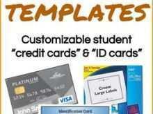 Credit Card Id Template