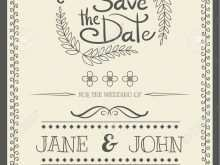 Invitation Card Template Vintage