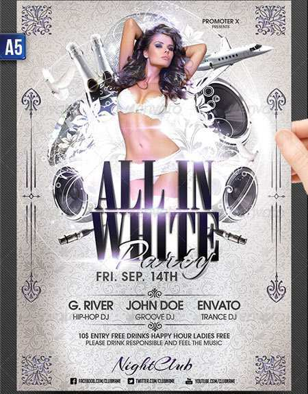 44 Report All White Party Flyer Template Free Download for All White Party Flyer Template Free