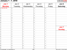 44 Standard Blank Weekly Class Schedule Template Templates with Blank Weekly Class Schedule Template