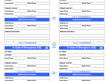 44 Standard Emergency Id Card Template Layouts for Emergency Id Card Template