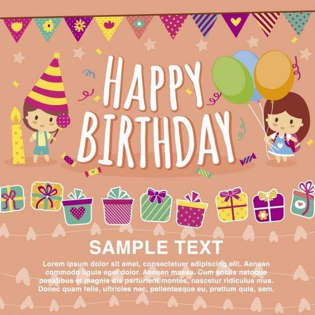 45 Adding Birthday Card Template Vector Free Download with Birthday Card Template Vector Free Download