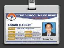 Student Id Card Template In Excel
