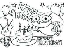 45 Blank Birthday Card Template To Color in Word with Birthday Card Template To Color