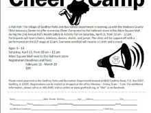 45 Blank Cheer Camp Flyer Template Download for Cheer Camp Flyer Template