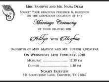 Indian Wedding Card Text Template