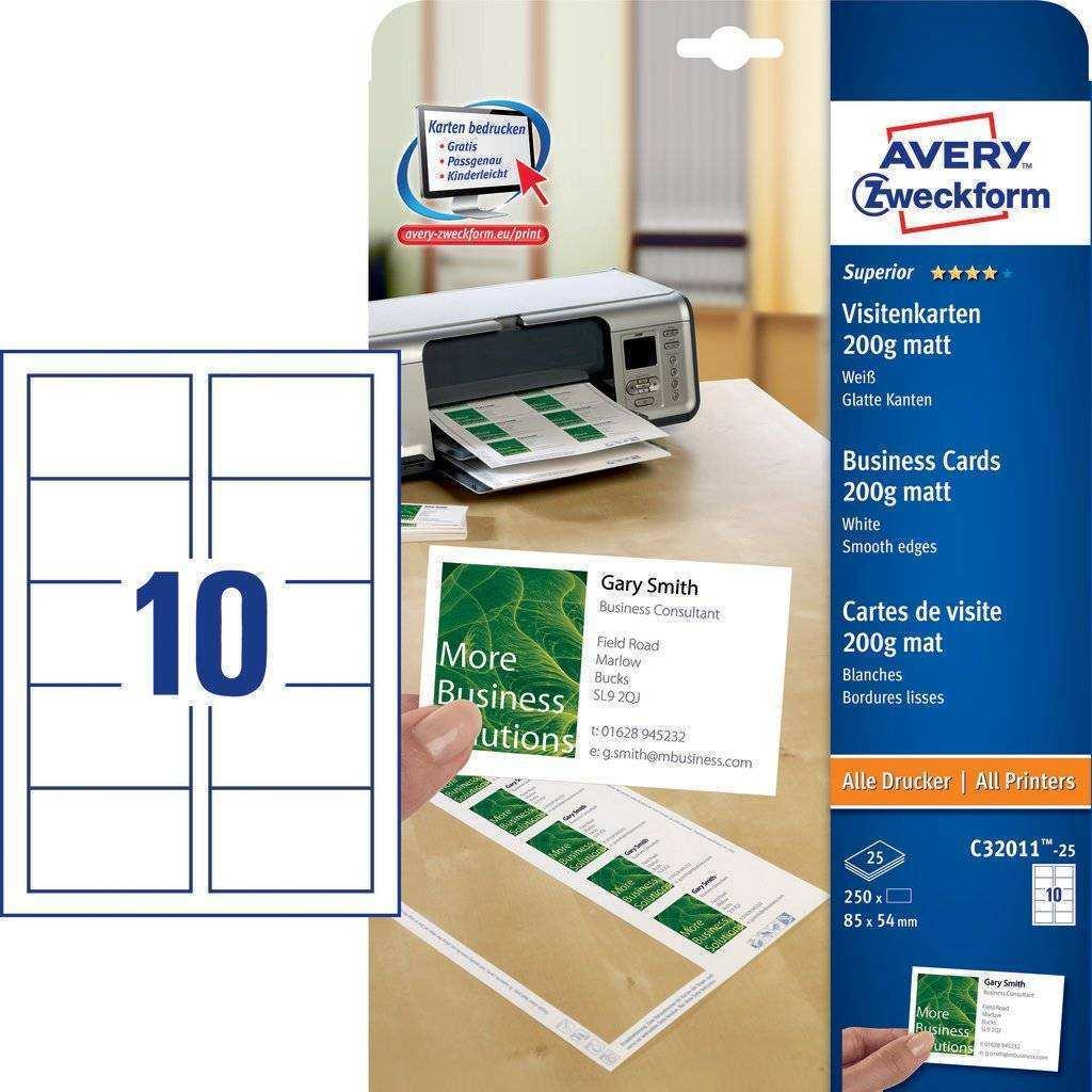 45 Creative Avery Business Card Template C32011 Layouts by Avery Business Card Template C32011