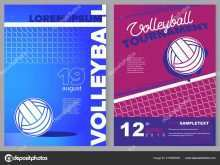 Volleyball Tournament Flyer Template