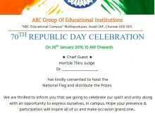 45 Customize Our Free Invitation Card Format For Republic Day Layouts with Invitation Card Format For Republic Day